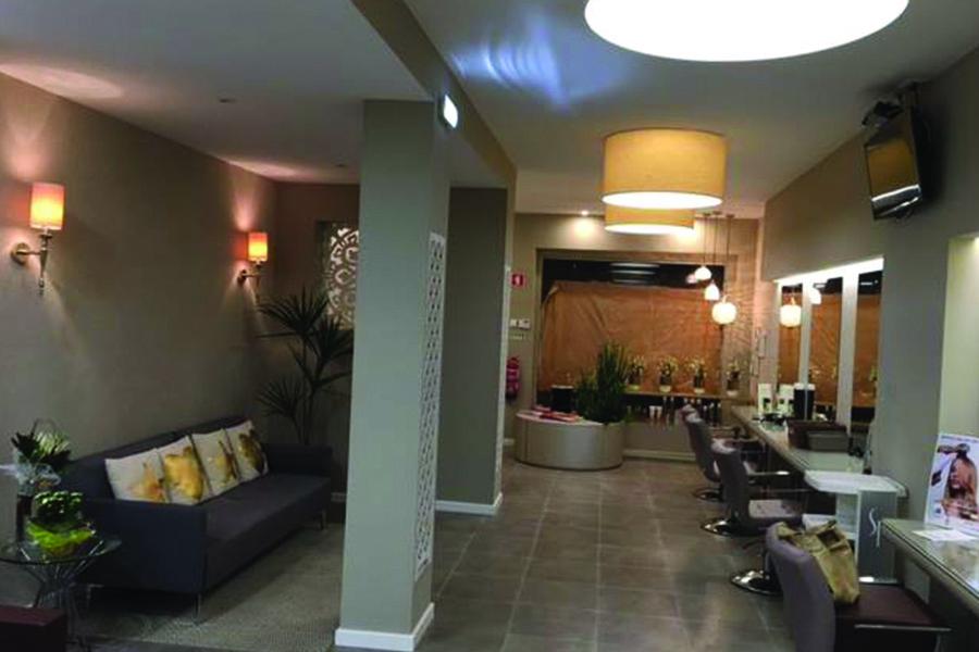 decoração, design de interiores, Salão cabeleireiro