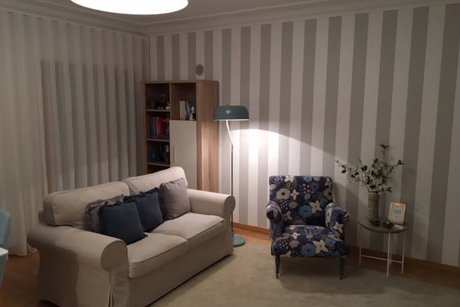 Remodelação de sala em Alhandra, design de interiores, decoração